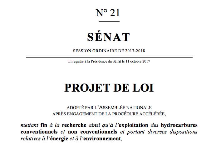 PJL Fin des hydrocarbures : une exception pour la Guyane obtenue au Sénat